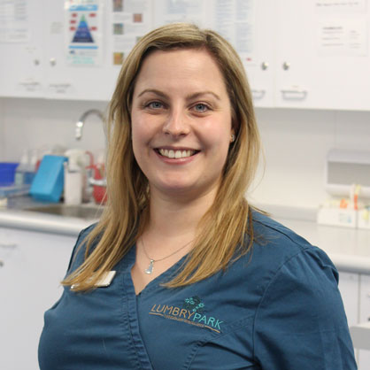 Lindsey Dodd, RVN, Head Veterinary Nurse